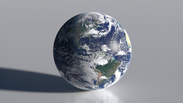 "Earth ball, or ""blue marble"""