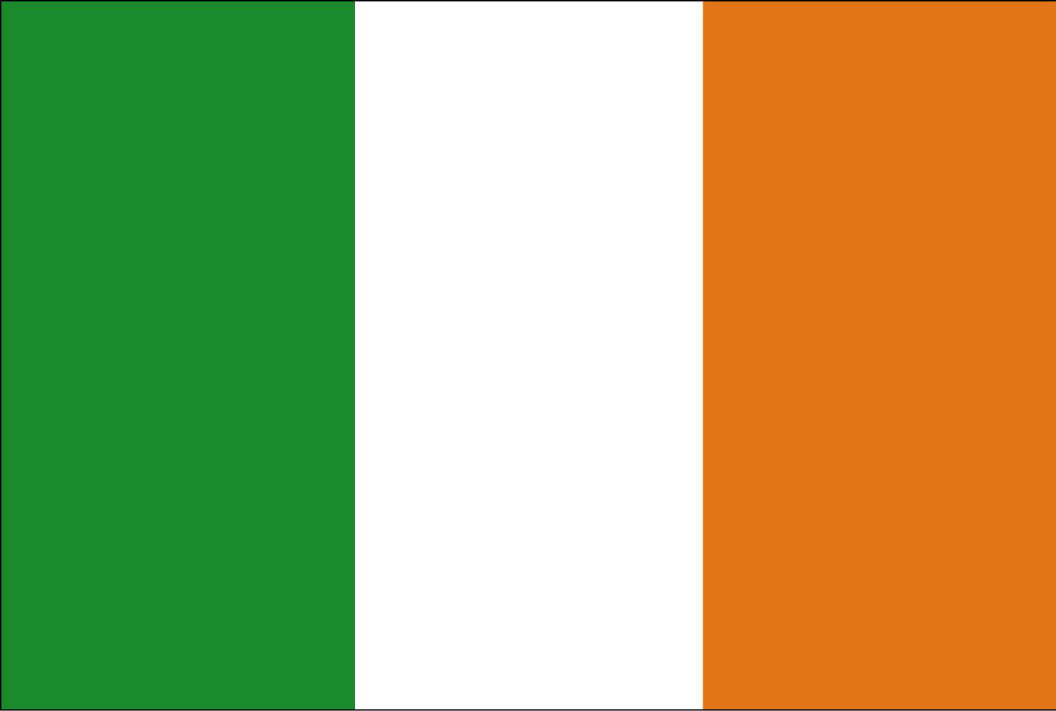 The Irish flag is green, white and orange. The green symbolizes the ... Ierland