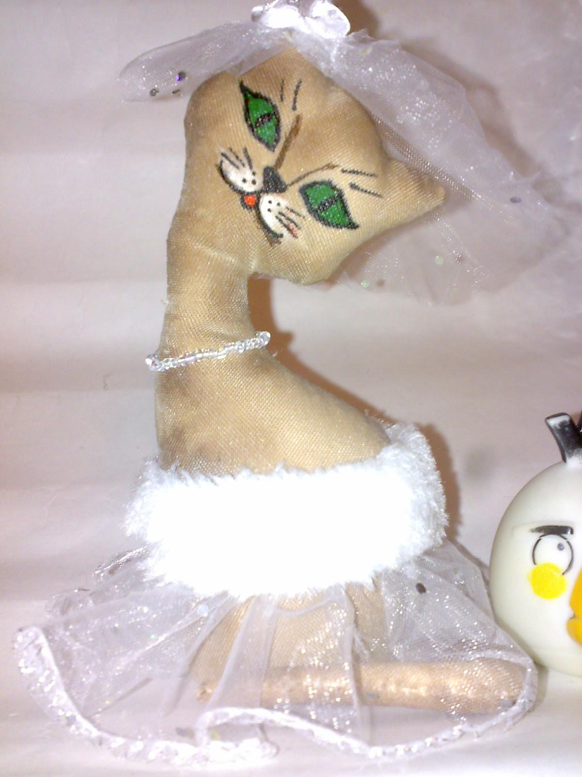 кофейная игрушка кошка невеста