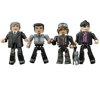 Gotham Minimates Series 2 Box Set by Diamond Select Toys - Bruce Wayne, Selina Kyle (Catwoman), Alfred Pennyworth & Oswald Cobblepot (The Penguin)