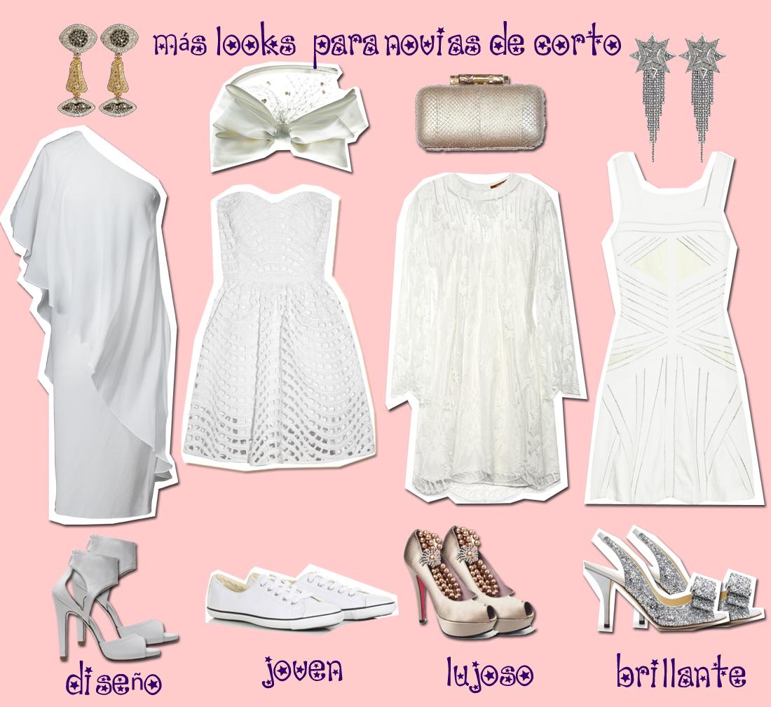 NomeToqueselPost: Blanca y radiante (y de corto) va la novia