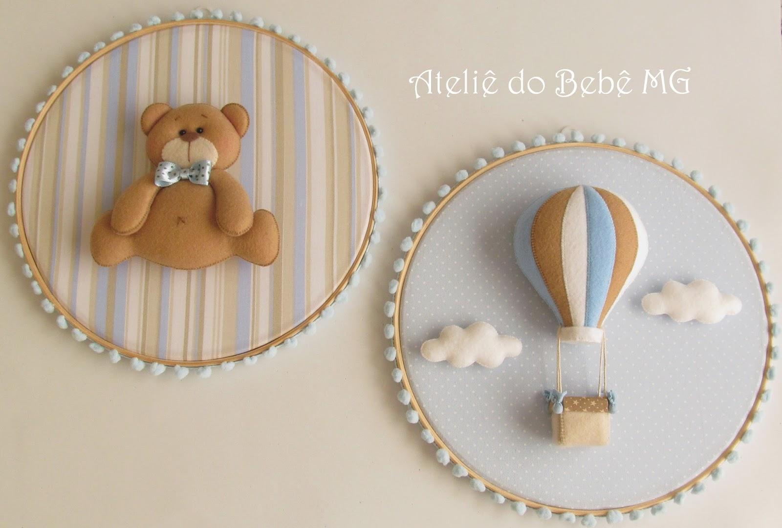 Ateliê do Bebê MG: Duo de Quadros Urso e Balão ( Thomáz ) #784928 1600x1081