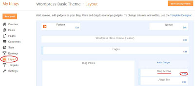 Edit the Blogger layout