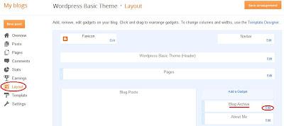 Edit the Blogger layout