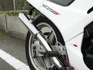 VT250 ワンオフマフラー