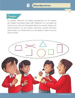 Apoyo Primaria Desafíos matemáticos 5to grado Bloque I lección 8 Descripciones