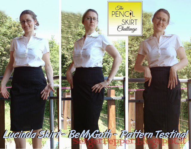 Serger Pepper Pencil skirt pattern