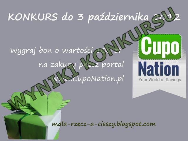 Wyniki konkursu z CupoNation.pl