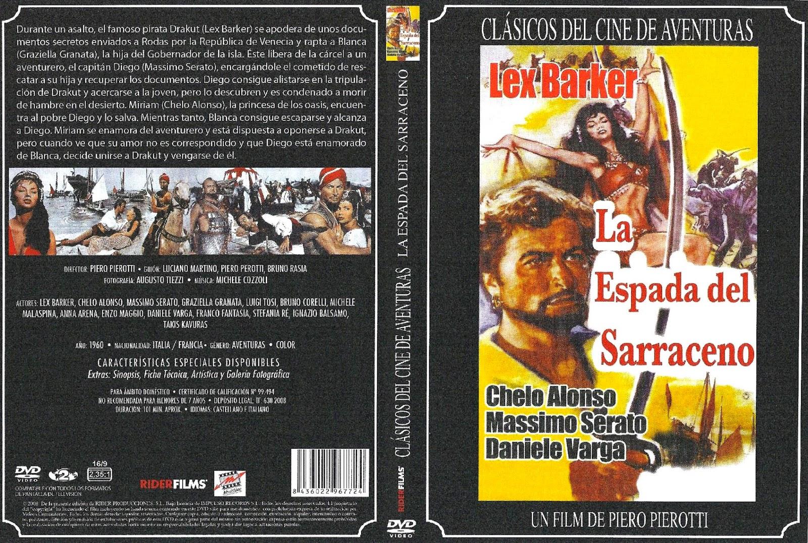 La espada del sarraceno [1959] Caratula