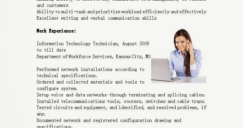 Computer information technology sample resume