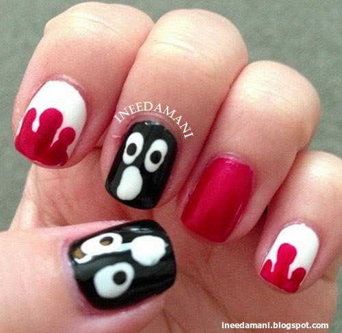 halloween dripping blood ghosts ghoul nails