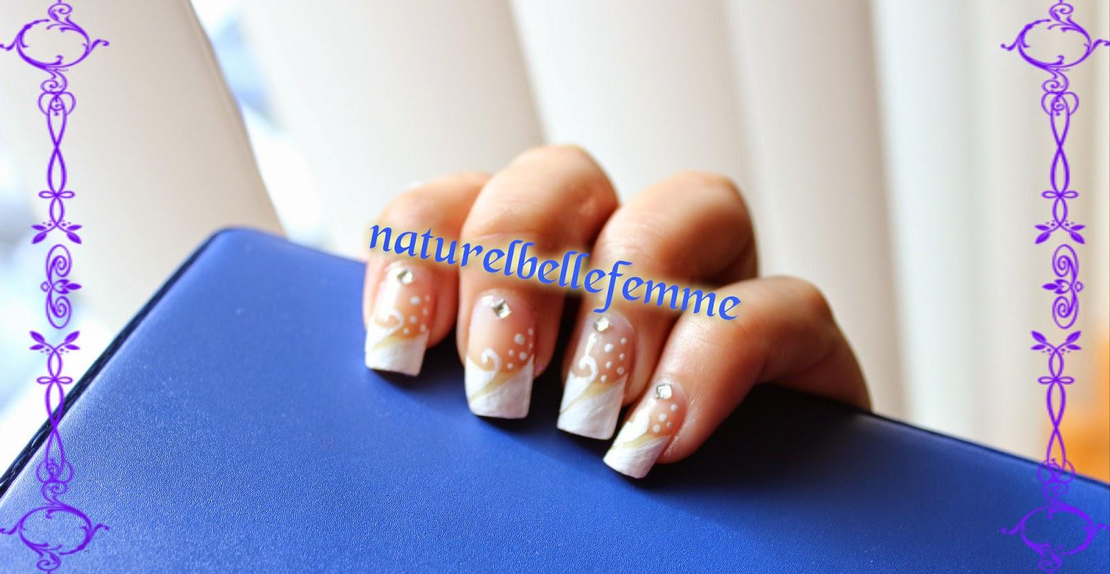 bridal french nail art