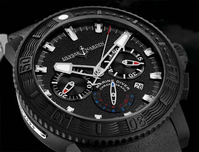 Ulysse Nardin - Black Sea Chronograph Watch dial