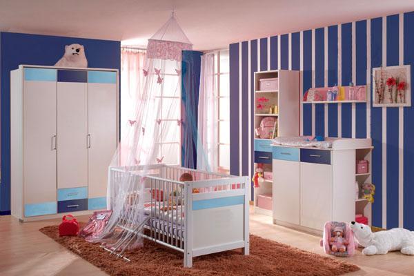 Dormitorio de bebes dormitorio para bebe varon color for Cuarto de bebe varon