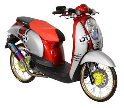 modif motor honda scoopy Racing Look Style