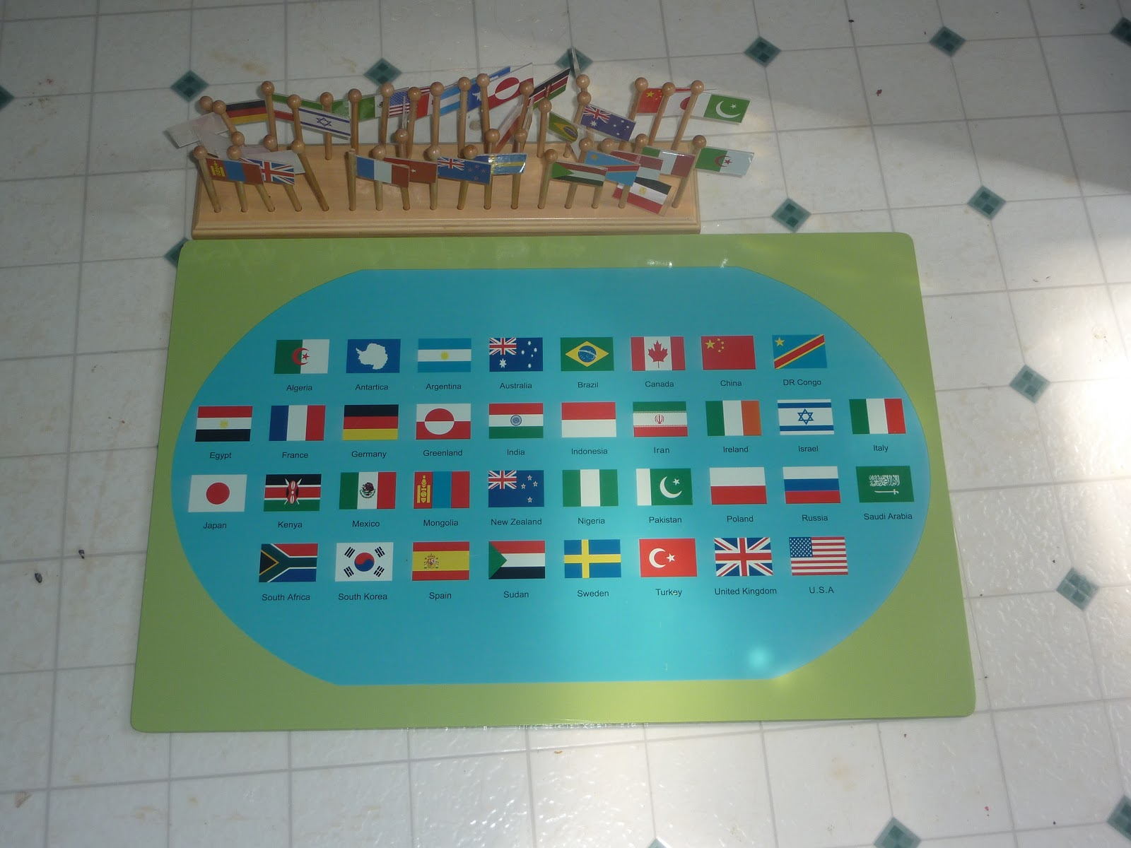 Montessori Geography - Map of usa for sale