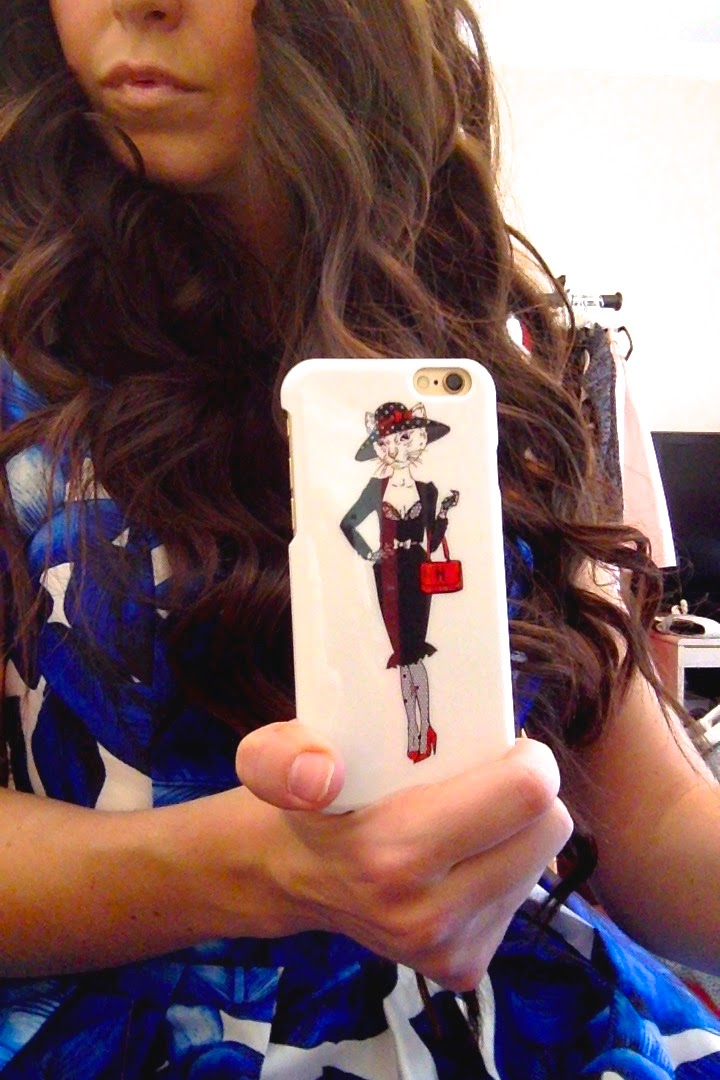 cute cate phone case, iPhone 6 phone case, perfect curls, phone 6 cat phone case, hi low dress, chi chi london dress, chi chi london, curls, long hair with curls, pretty hair,
