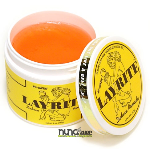 Layrite Pomade Deluxe (Waterbased Pomade) Orange Yellow