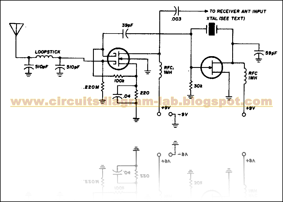 simple vlf converter circuit diagram circuits diagram lab