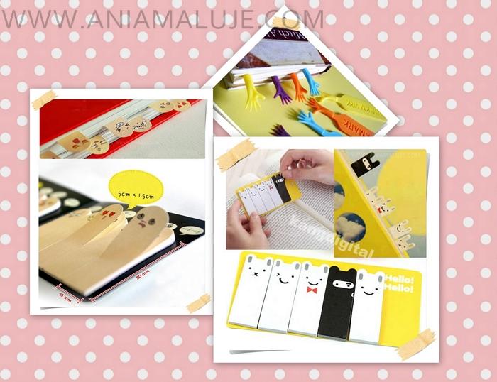 www.aniamaluje.com zakładki indeksujące index cards