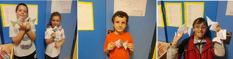 Nuestras primeras papiroflexia