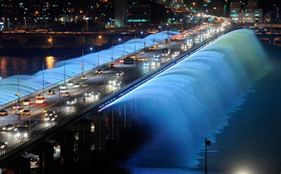 Banpo Girder bridge in Seoul, Korea Selatan
