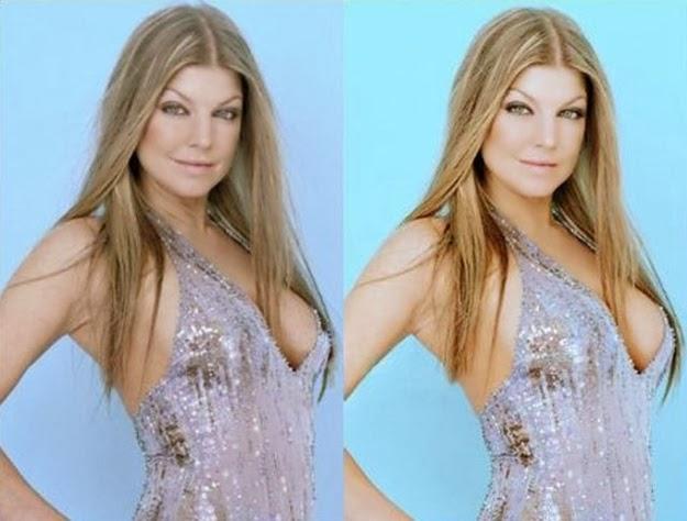 Fergie antes y despues photoshop