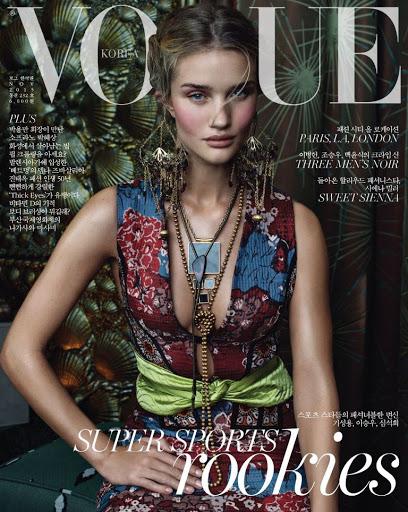 Rosie Huntington-Whiteley – Vogue Magazine Korea November 2015 cover