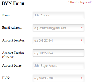 First Bank BVN Linker Form