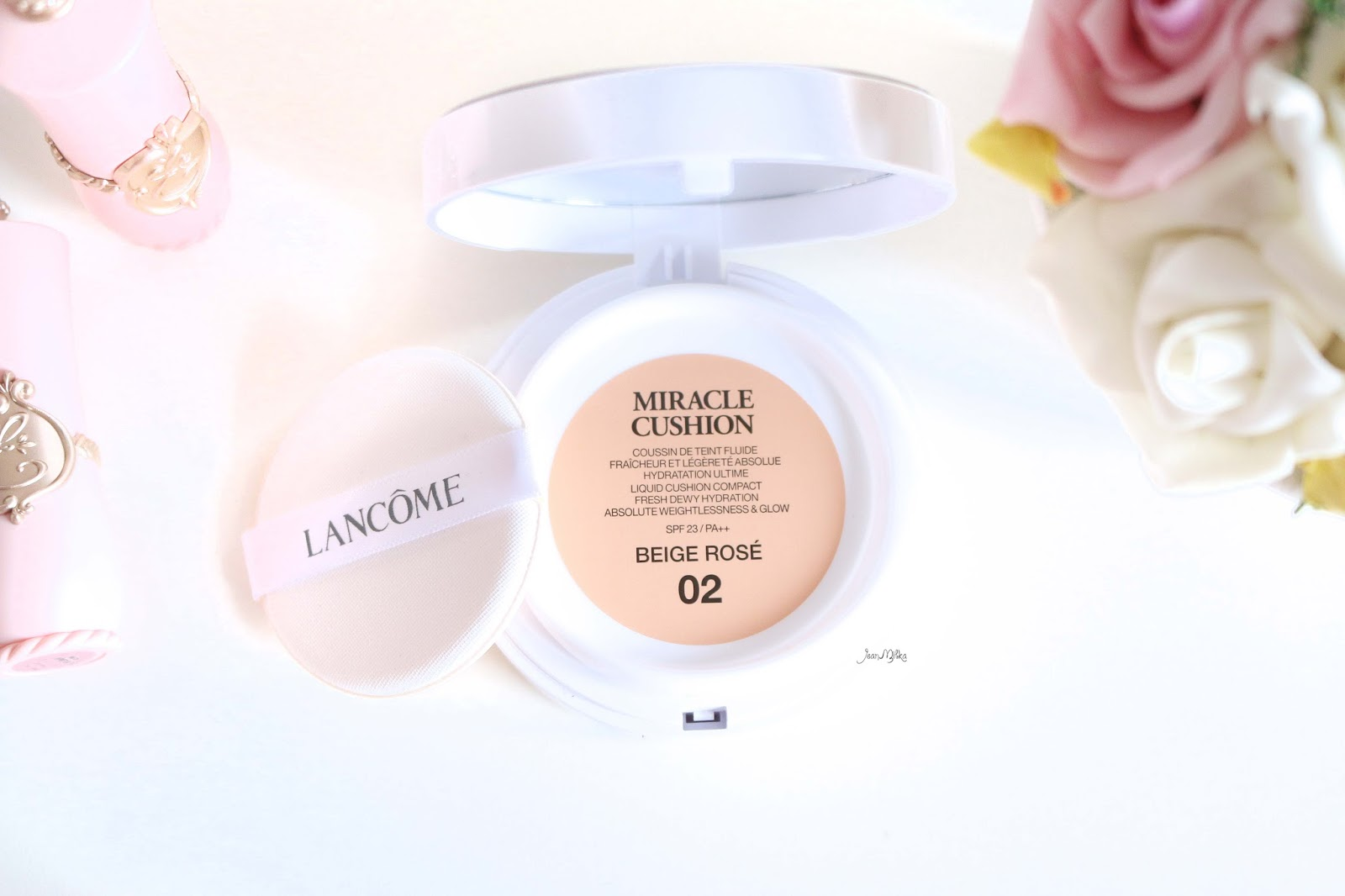 lancome, lancome miracle cushion, foundation, cushion, cushion foundation, review, swatch, limited edition, packaging, lancome, miracle cushion, beige rose, lancome miracle cushion beige rose 02