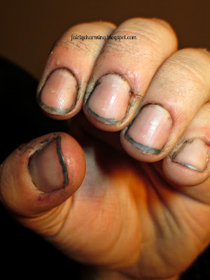 Man Mani, dirty, grime, nasty, nails, nail desgin, nail art, mani