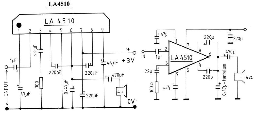 electronic  amplifier la4510