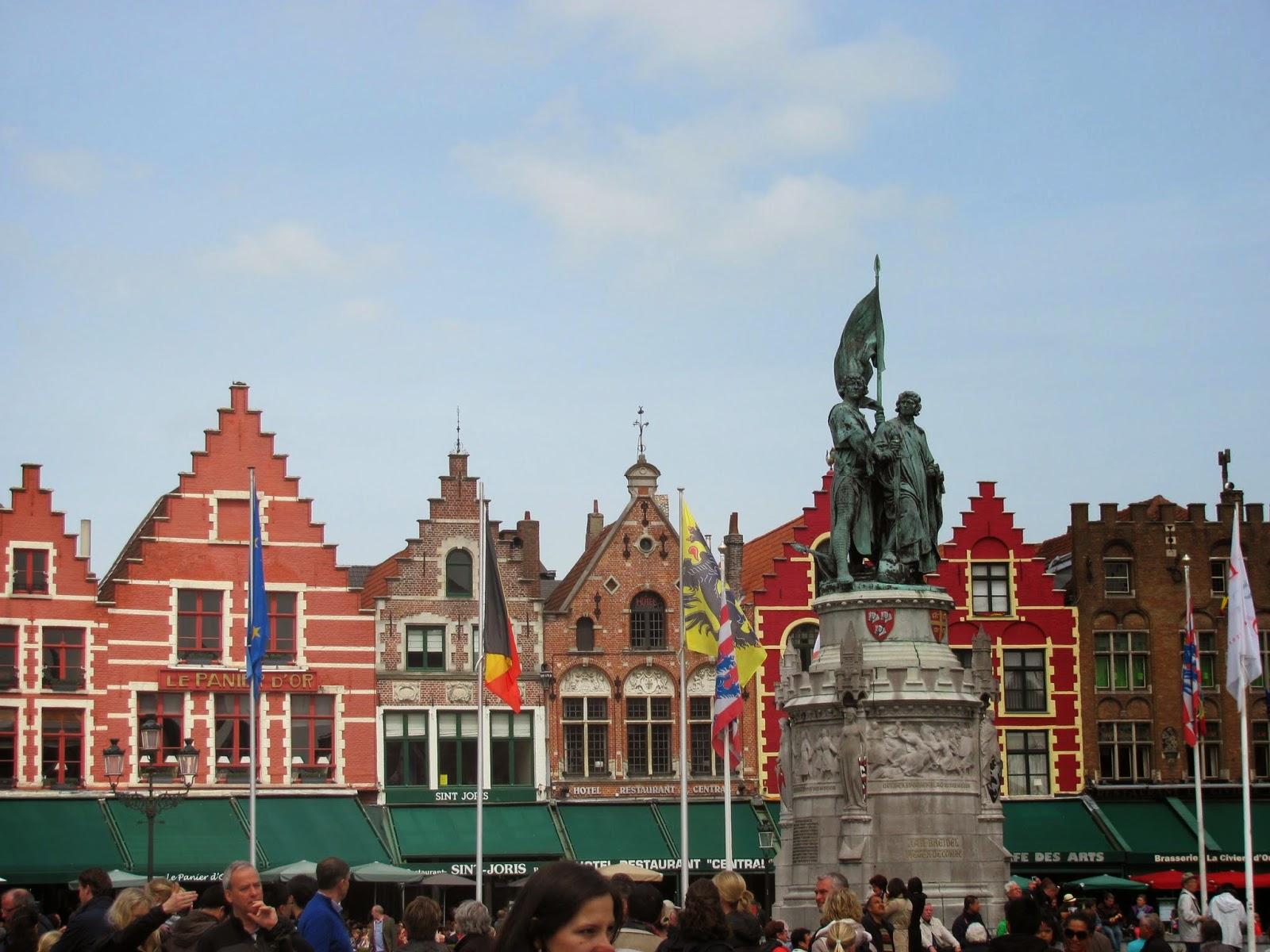 Bruges Market Square Belgium