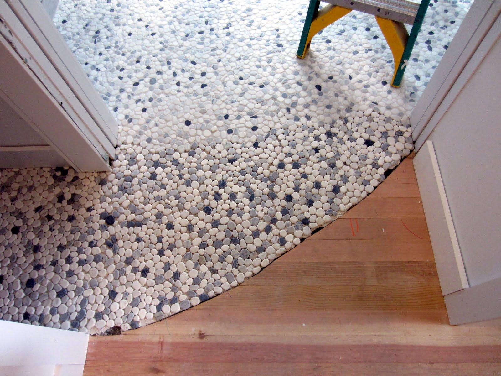 Pebble bathroom floor tiles - Pebble Tile Flooring