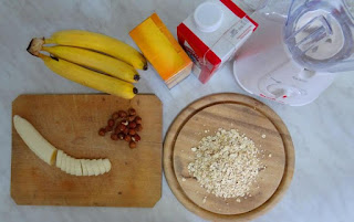 Bananas Oatmeal and Blender