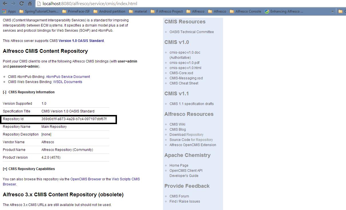 Alfreso CMIS Content Repository