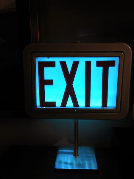 Antique Exit Sign Lamp Ikea Hackers