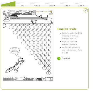 Free Math worksheets Kindergarten - 4 | Counting and numbering from 1 to 10 20