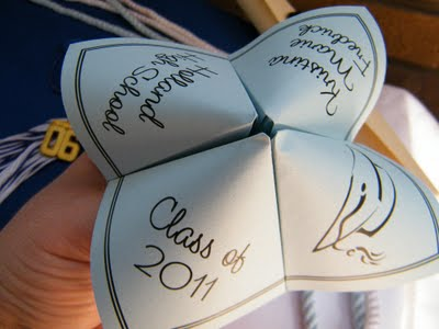 graduation craft ideas cootie catcher annoucement