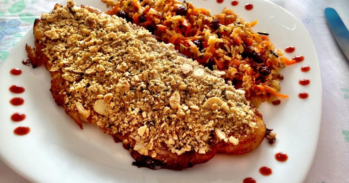 Santa comida til pia em crosta de am ndoas for Comida para tilapia