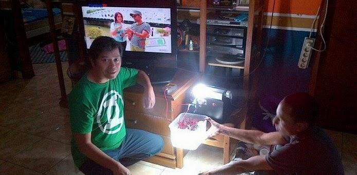 Eksperimen menghidupkan Tv Lampu Komputer hingga 1500 watt dengan GTBB