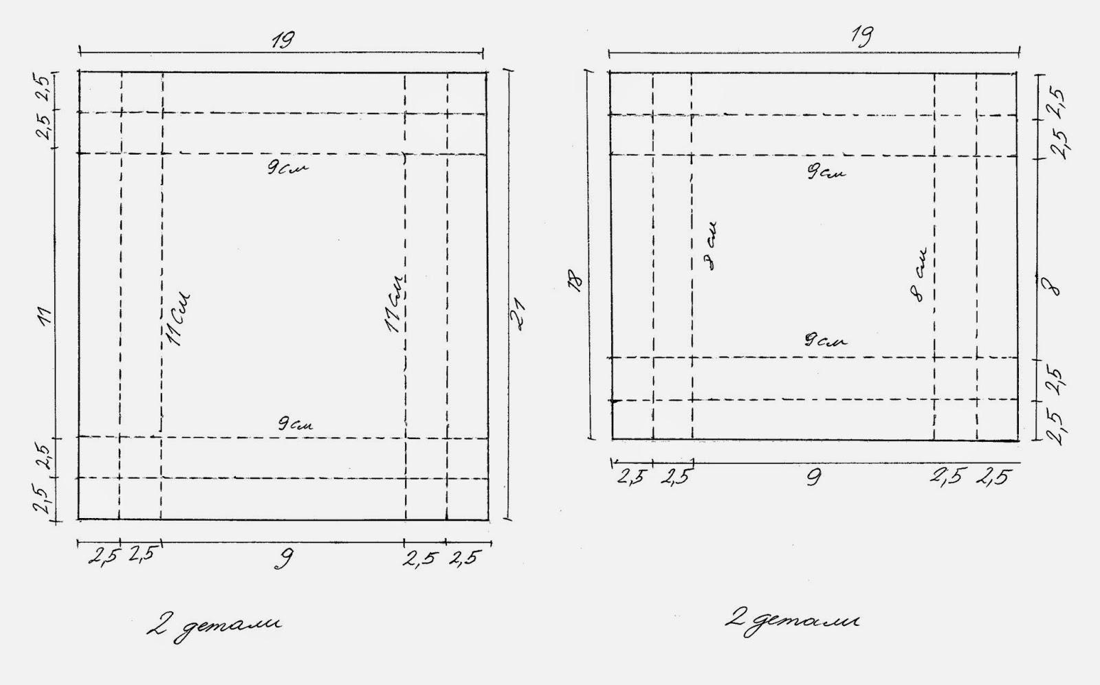 схема бонбоньерка карета