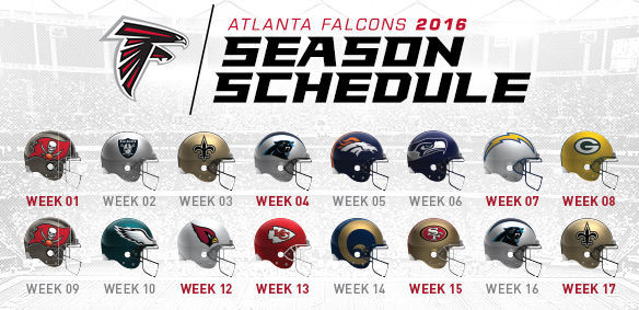 2016 Atlanta Falcons Schedule