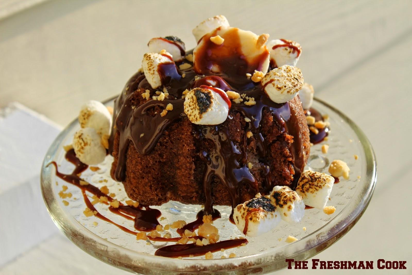 The Freshman Cook: Nutty Chocolate Banana Bundt Cake/#BundtBakers