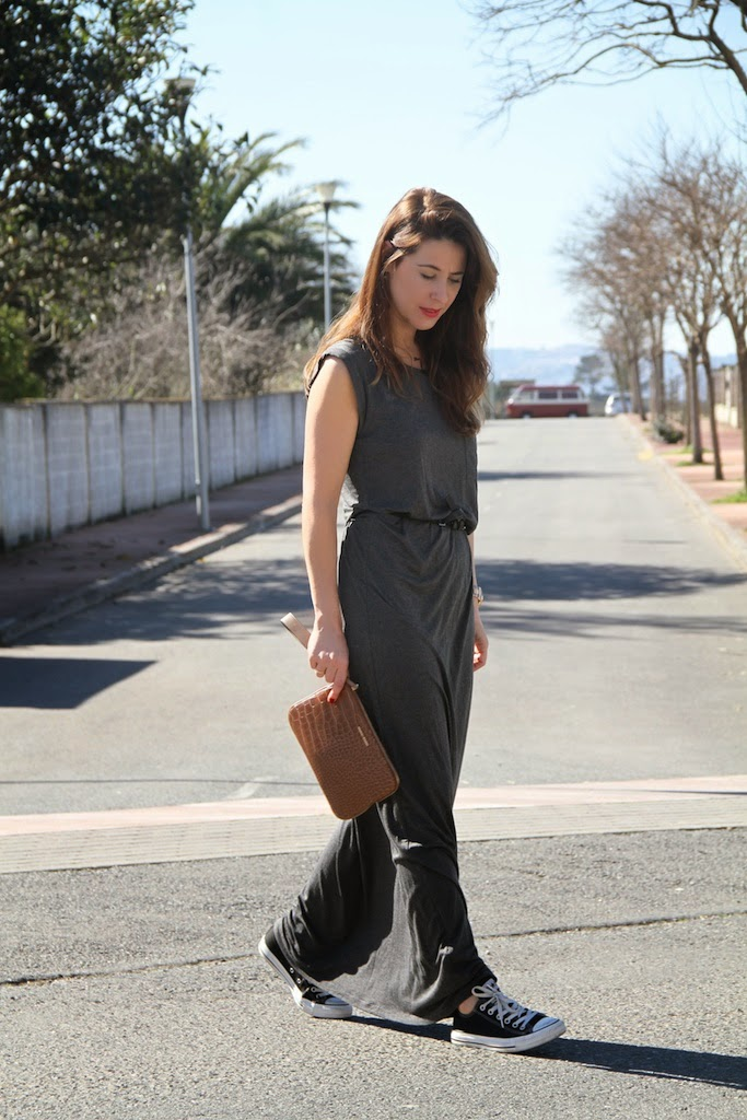 grey long dress-50296-descalzaporelparque