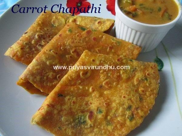 carrot chapathi