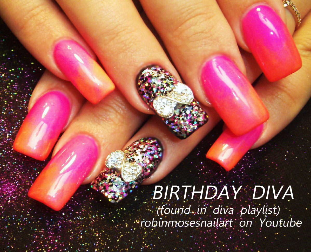Birthday Nails Pinterest Birthday Nails For a Diva Pink
