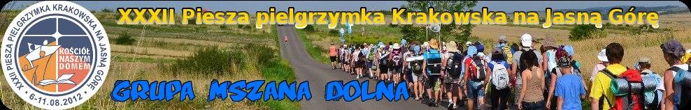 Piesza Pielgrzymka Krakowska na Jasną Górę - grupa Mszana Dolna