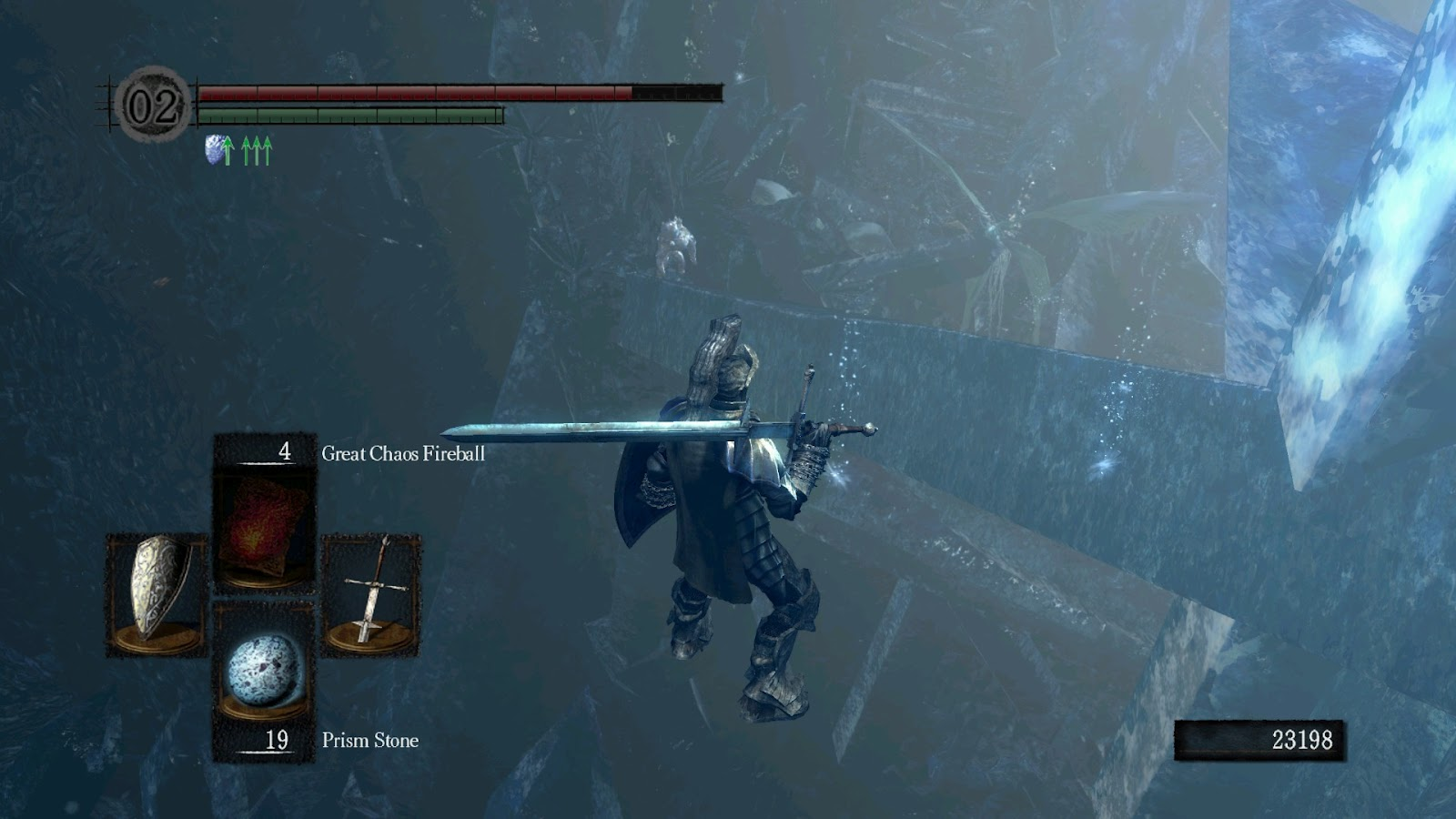 how to go to crystal cave dark souls