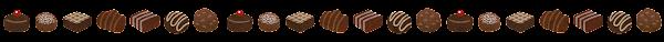 チョコレートのライン素材
